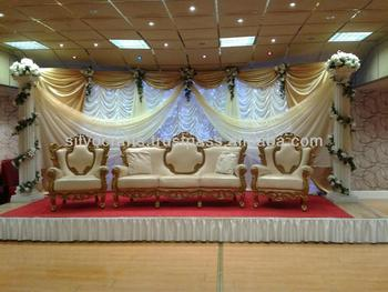 Wedding Stage Sofa Set U0026 Chairs For Bride U0026 Groom From Classic Silvocrafts  (Indian Wedding