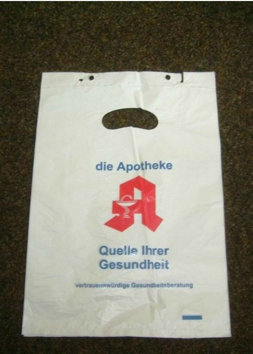Blockheaded plastic bags for grocery