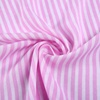 Rayon challi printed woven 50 cotton 50 viscose pink and white stripe fabric for women dress