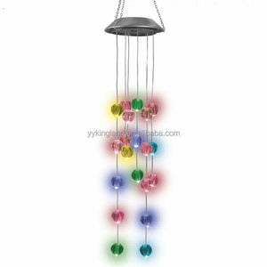 Kingland 20 led wind chimes lights for garden decoration solar wind chimes
