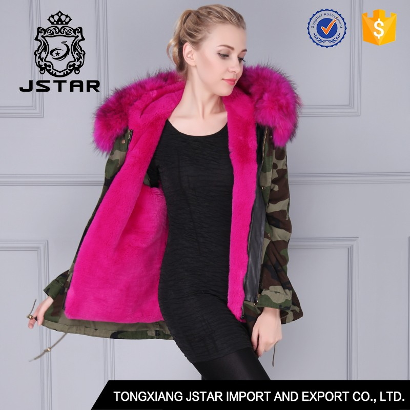 Jia xing china supplier leopard faux fur coat with big fur collar