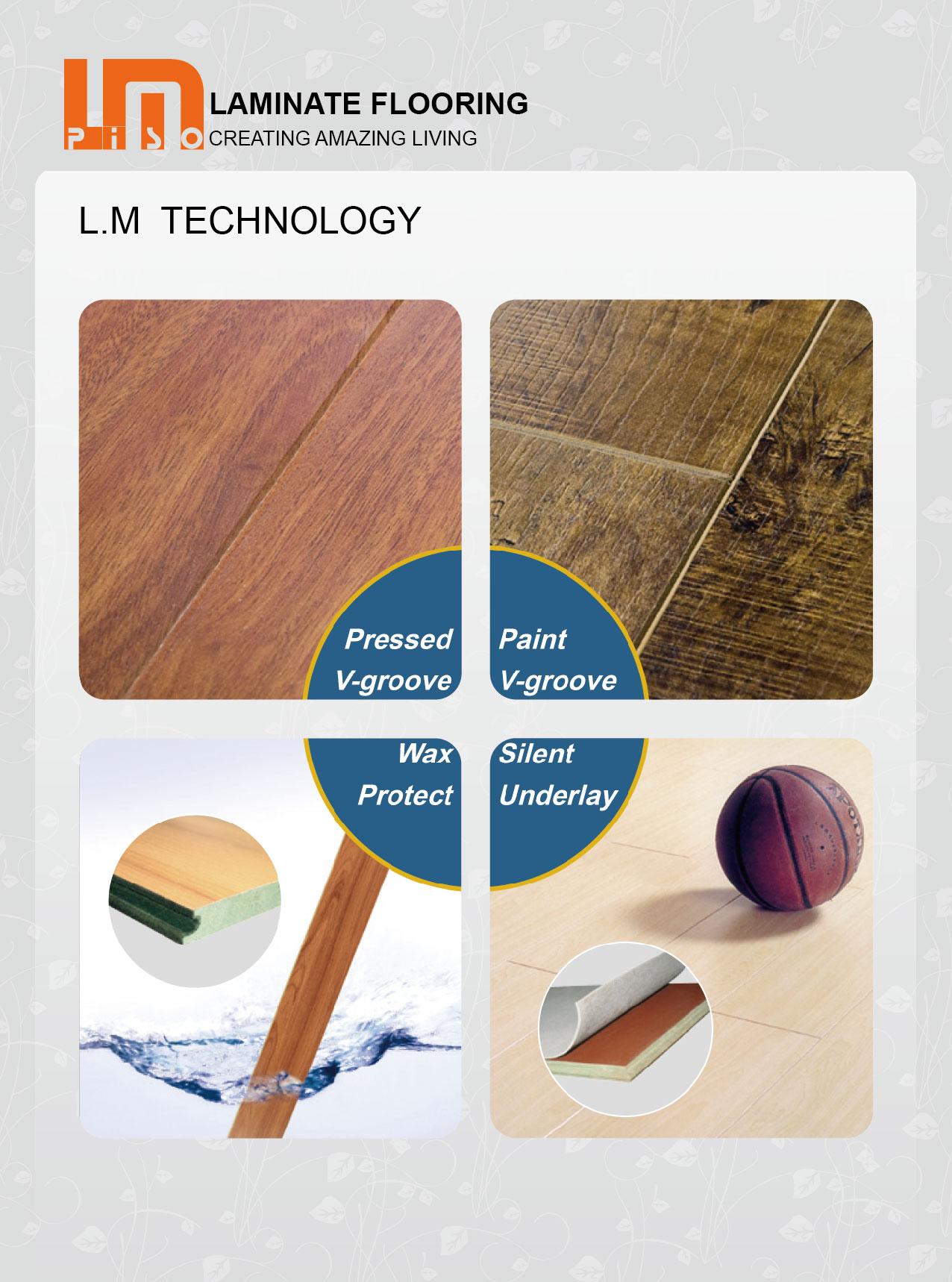 Hot sale cheap german technology wood three strips laminated flooring