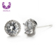 AIDAILA Hot Mini Circled Zirconia Paved Diamond Stud Earrings for Women