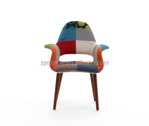 Durable new arrival antique fabric cheap pvc dining chairs