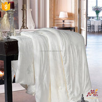 Wholesale custom soft 100% silk material cross stitch bed sheet