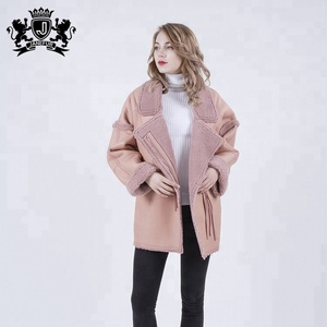 custom Hot Sales European Styles Women's Trench Coat With Sexy Real Fur Coat Women