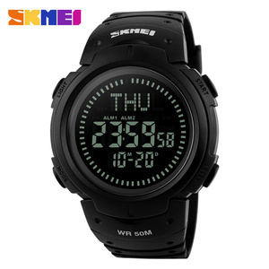 high quality relojes plastic digital 5 atm waterproof best mens compass sports watches from skmei 1231