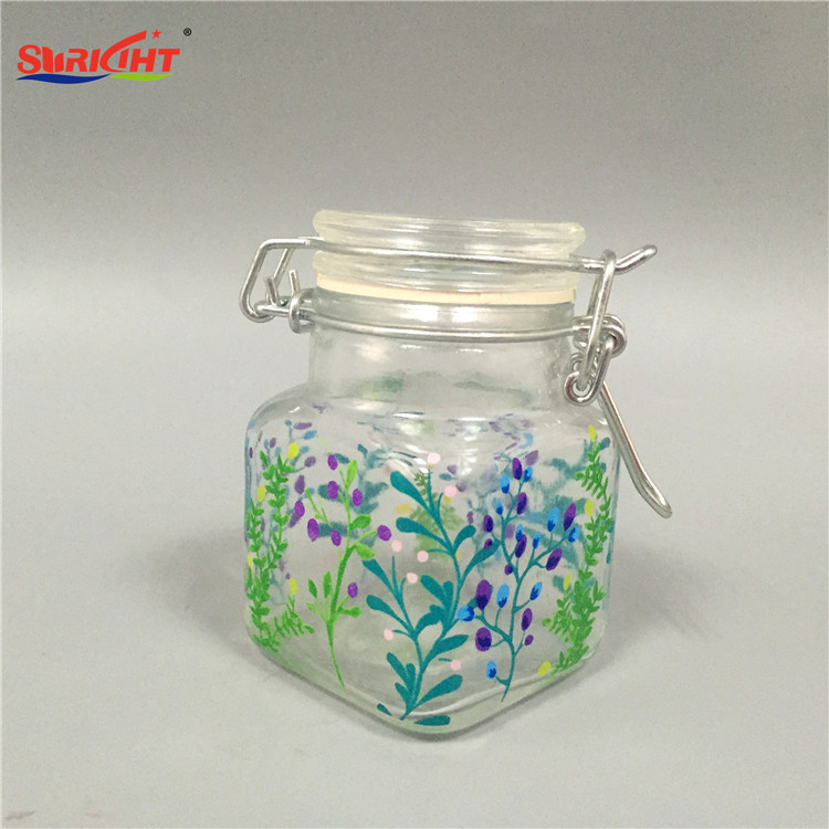 Pillar Square Glass Candle Holder with Lid Hot Sale Very Cheap
