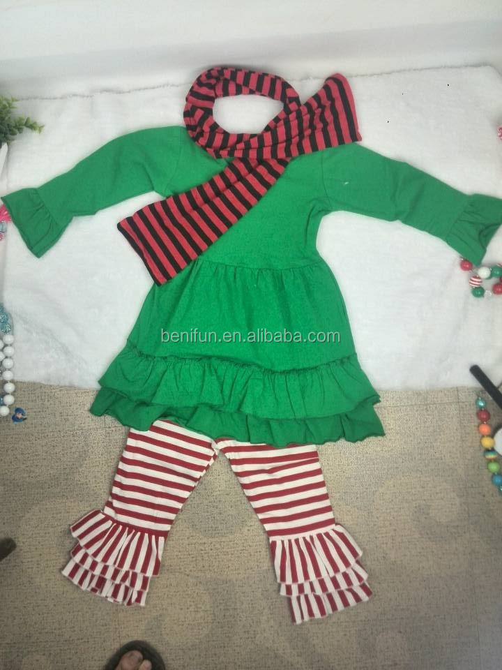 Christmas outfits for baby girls and boutique outfits wholesale for toddler girls