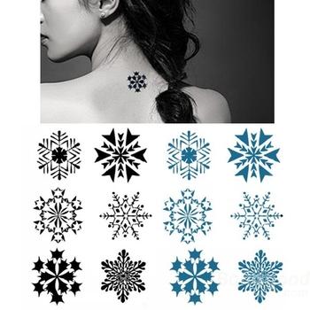 últimos Diseños De Tatuaje De Larga Duración Diseño De Copo De Nieve