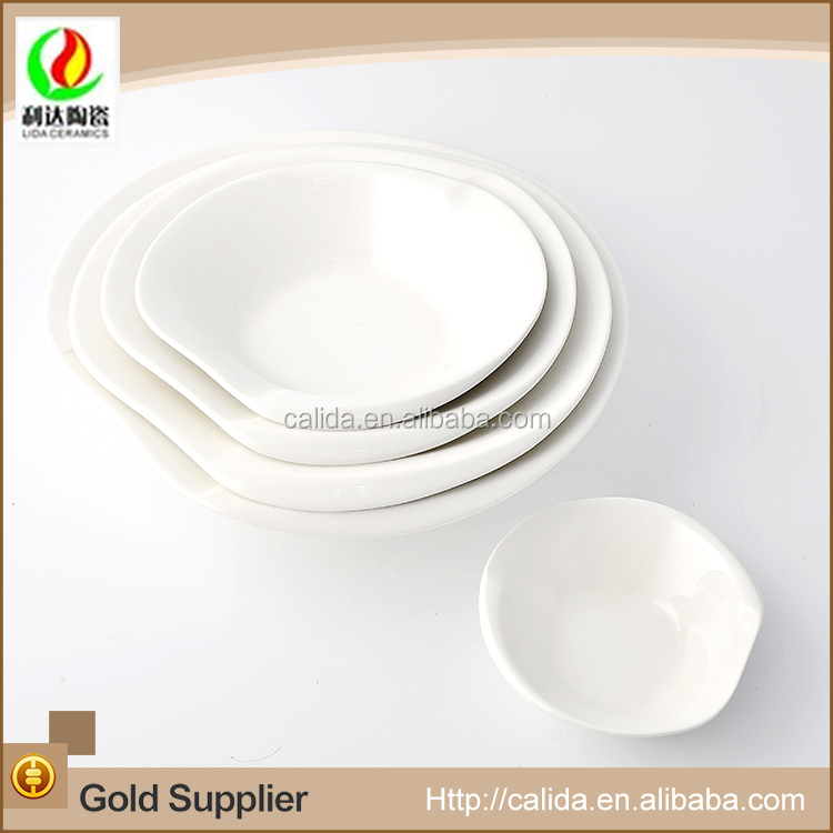 New arrival clean easily elegant white LD11660 ceramic plates in guangzhou with high quality