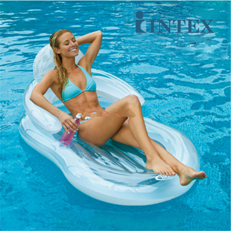 Comfort Float Pool Chair Mattress Inflatable Swimming Pool Floating Lounge