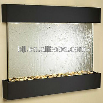 Contemporary Glass Wall Decorations Indoor Wall Water Fountains Home