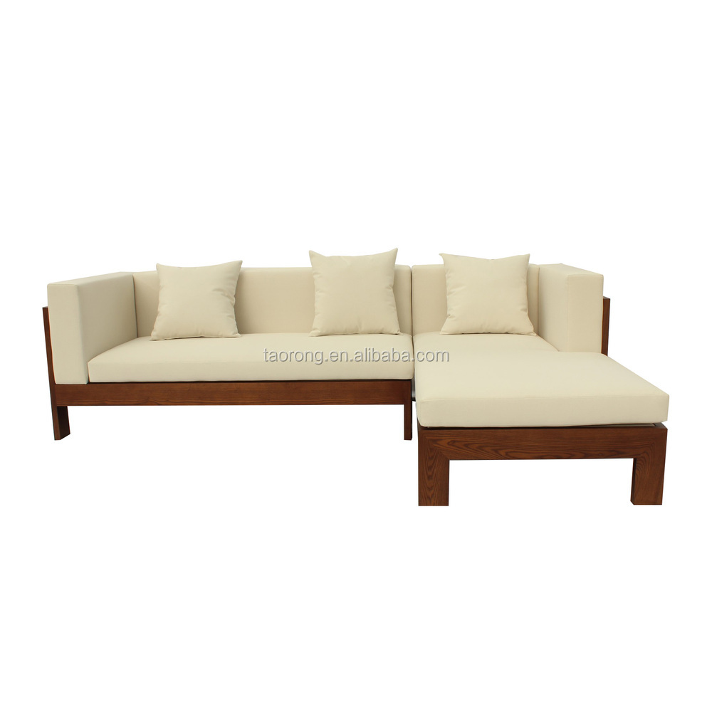 Simple design 2 seat wooden sofa bed so 481 buy wooden for Sofa cama de madera
