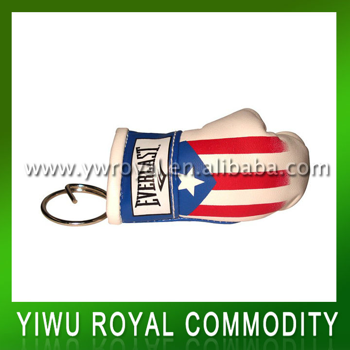 Promotional PVC Leather Boxing Glove Keyring