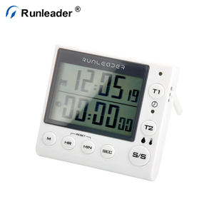 Runleader Digital Indoor Timer With Humidity Display And Temp Display Plastic Timer