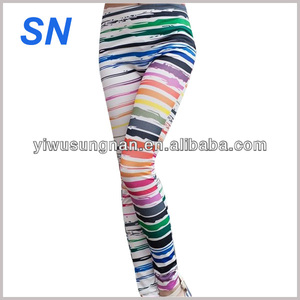 Fashion Hot Women 's High Elastic Printed Fancy Leggings For Women Cheap price Stretch Pants