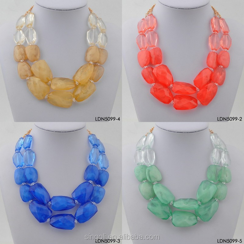 Wholesale Different Style Red Multi Layer Bead Necklace,Three ...