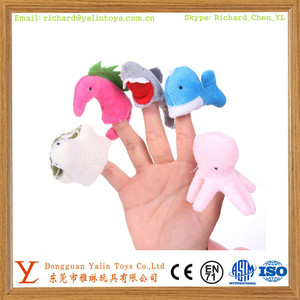 Mini Sea Animals Doll Finger Puppet Sets Custom made puppets factory