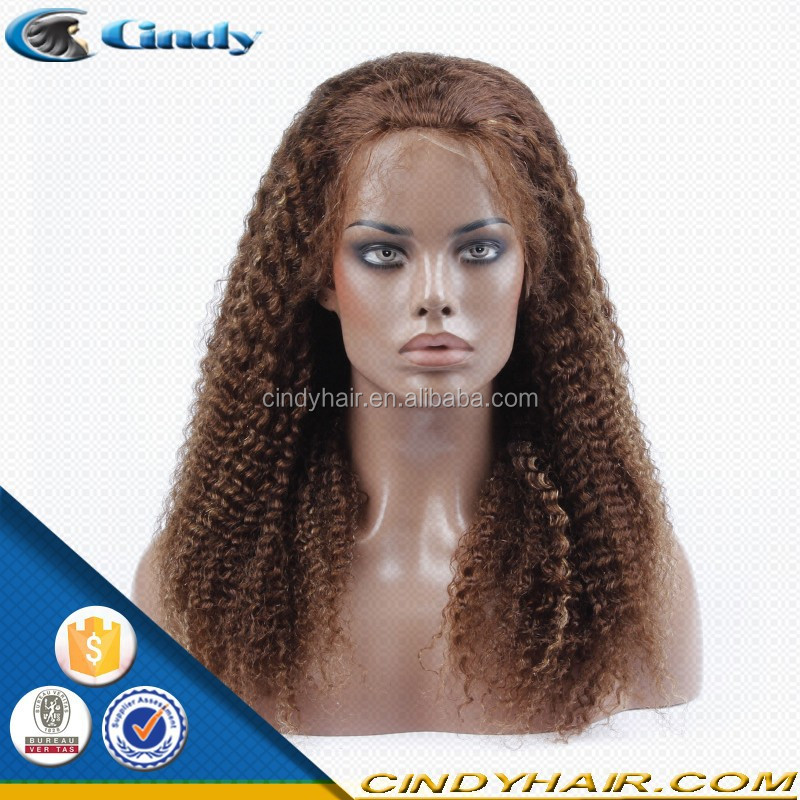 Beauty Indian human hair African American curly wig