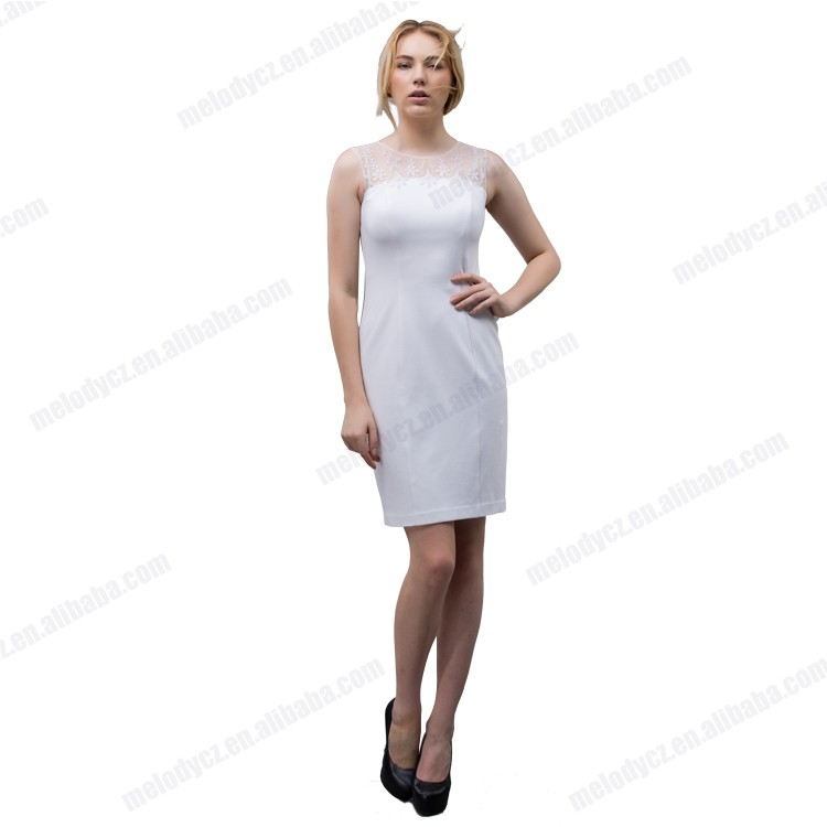 Snow white thin striping formal negotiate meeting women office dress 2016