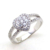 Rhodium Plated Hot-selling White Zirconia 925 Silver China CZ Ring