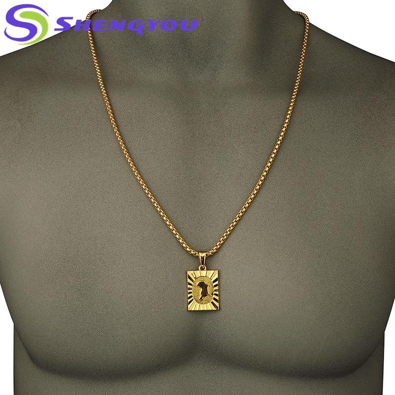 f3cc2c7177d80 Hiphop Jewelry Fashion Men Style Bling Gold Chain With Token Pendant  Necklace - Buy Dubai Gold Chains,Jewelry Gold Filled Chain,Jewelry Making  Gold ...