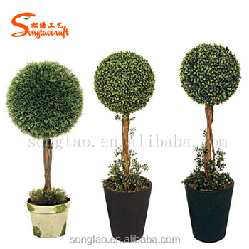 artificial topiary ball trees artificial boxwood ball
