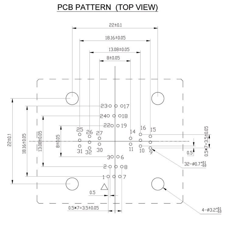 QFP32-0.5-PCB-PATTERN