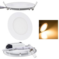 9W Round LED Recessed Ceiling Light, LED Panel Light,600lm Warm White(3000k) Waterproof(IP54)