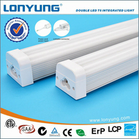 High Lumen and Eyes Protection t5 double integrated family tube led light fixture