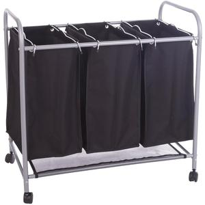 Hot Sale Folding three Sorted Laundry Cart for Home Use with wheel