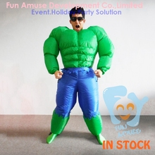 funny adult green hulk inflatable muscle man costumes