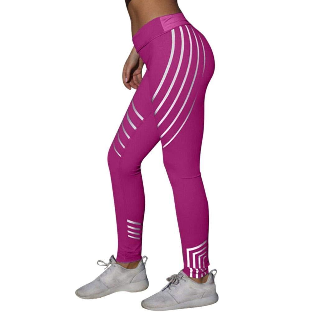 55a1111717 Get Quotations · Capri Leggings, Women High Waist Yoga Leggings Fitness  Leggings Pants Running Gym Stretch Pants Trousers