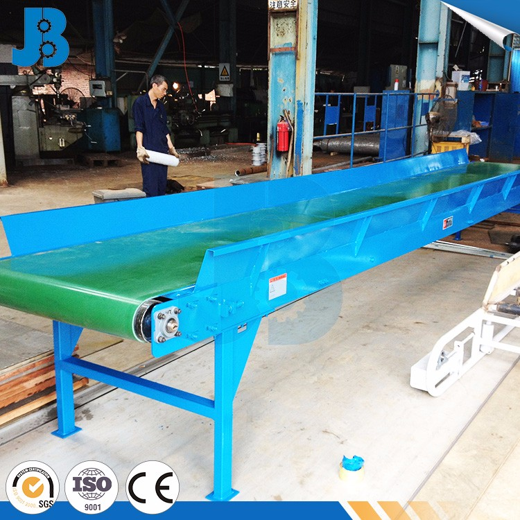 Sidewall Green 2.0 Thickness PVC Unloading Belt Conveyor