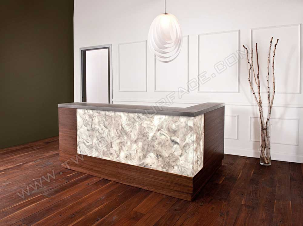 Clinic Reception Counter Wooden