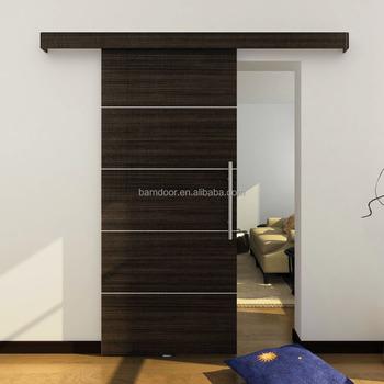 Frameless Interior PVC Sliding Door And Aluminum Sliding System With  Decorative Cover