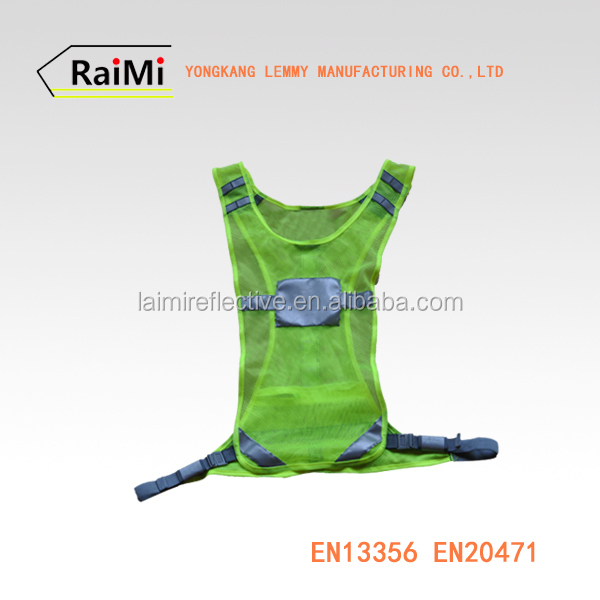 high visibility running vest sport reflective vest sporty & safety jogging vest