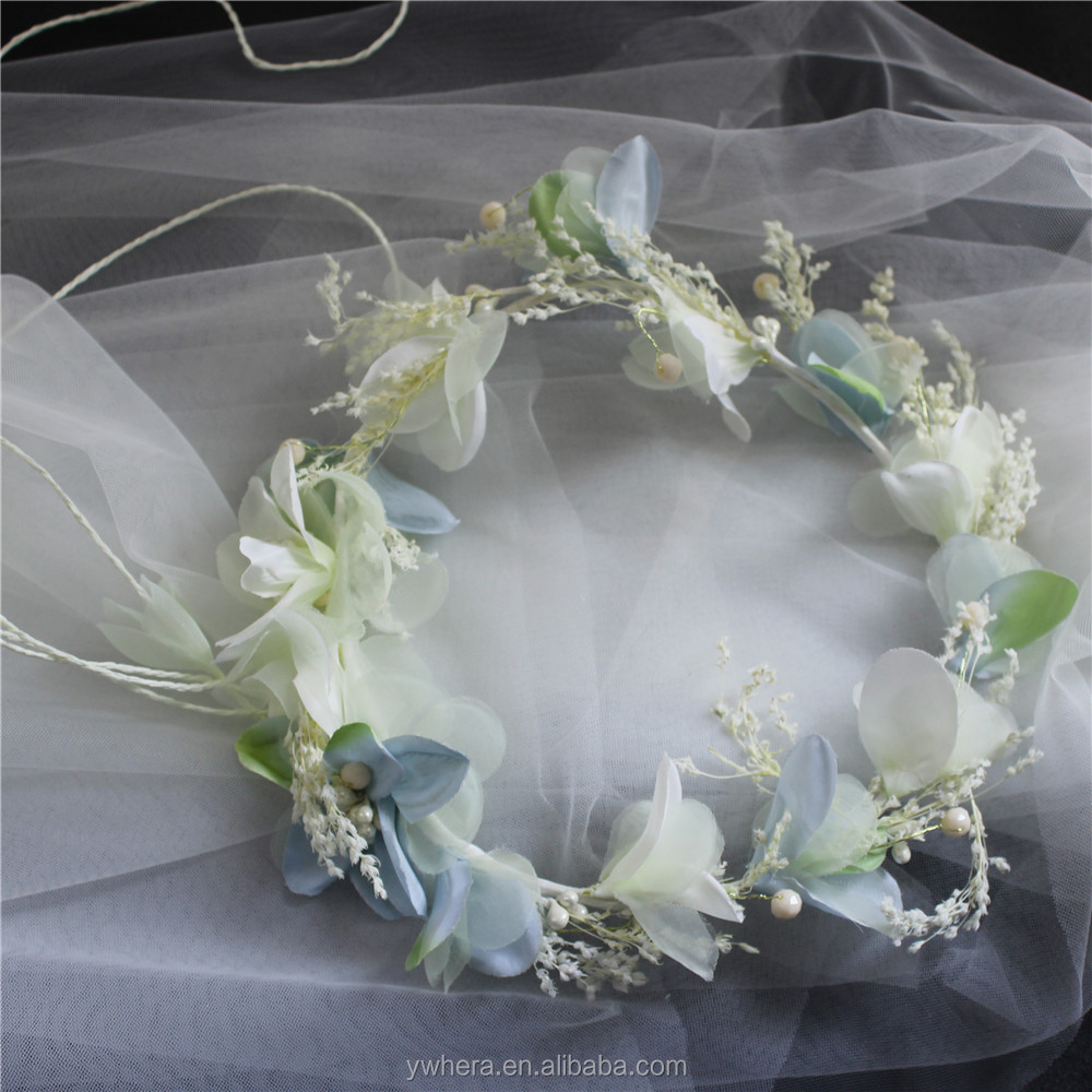 Circular shape bulk bridal silk flower garland