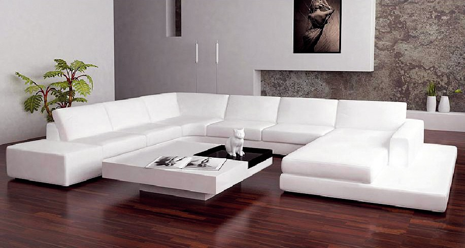 gro e u f rmige wohnzimmer ledersofa elegante sofa m bel wei en ledersofa wohnzimmer sofa. Black Bedroom Furniture Sets. Home Design Ideas