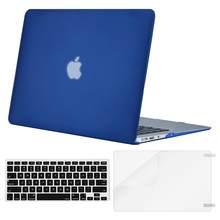 MOSISO Кристальный матовый чехол для ноутбука Apple macbook Air Pro Retina 11 12 13 15 сумка для ноутбука macbook Air 13 чехол + чехол для клавиатуры(Китай)