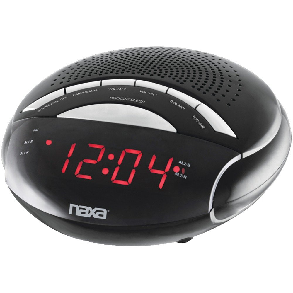 "1 - Digital Alarm Clock with AM/FM Radio, PLL digital alarm clock, 0.6"" LED display, NRC170"