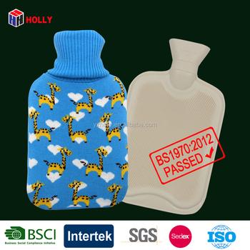 Giraffe Animal Flat Hot Water Bottle Knitting Pattern Cover With Hot