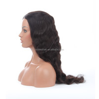 Most fashionable style best selling long supper wavy 130% density full lace wigs for bald women