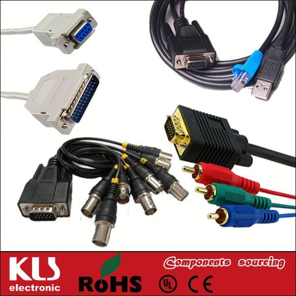Good quality 15 pin d sub rgb vga cable UL CE ROHS 362 KLS brand