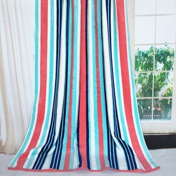 Wholesale Custom Striped Dobby Yarn Dyed Cotton Soft Couple Beach