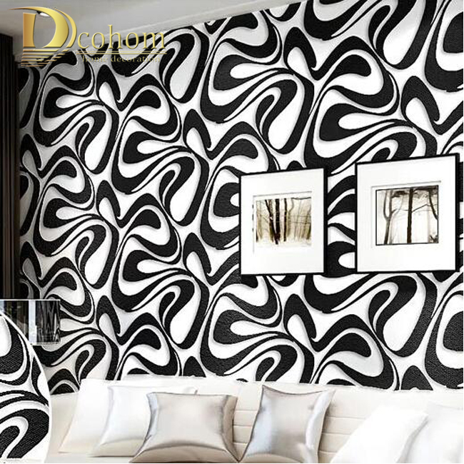 Modern 3D three-dimensional non-woven wallpaper bedroom minimalist embossed stripe Home Furnishing decorative wallpaper R421