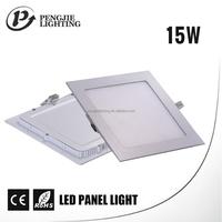 Aluminum acrylic cover 15 watts flush mount ceiling led panel light square