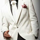 2014 tailor made men's wedding white suits,,bespoke suits,Dark brown business man suit with hand embroidery designs