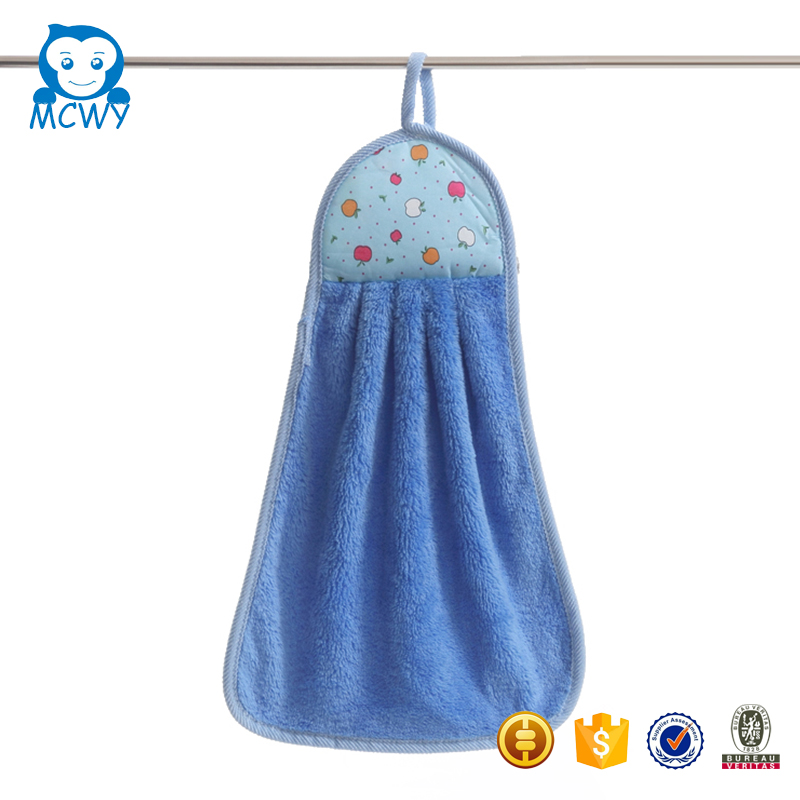 Wholesale colorful novelty decorative hanging kitchen towels with loop